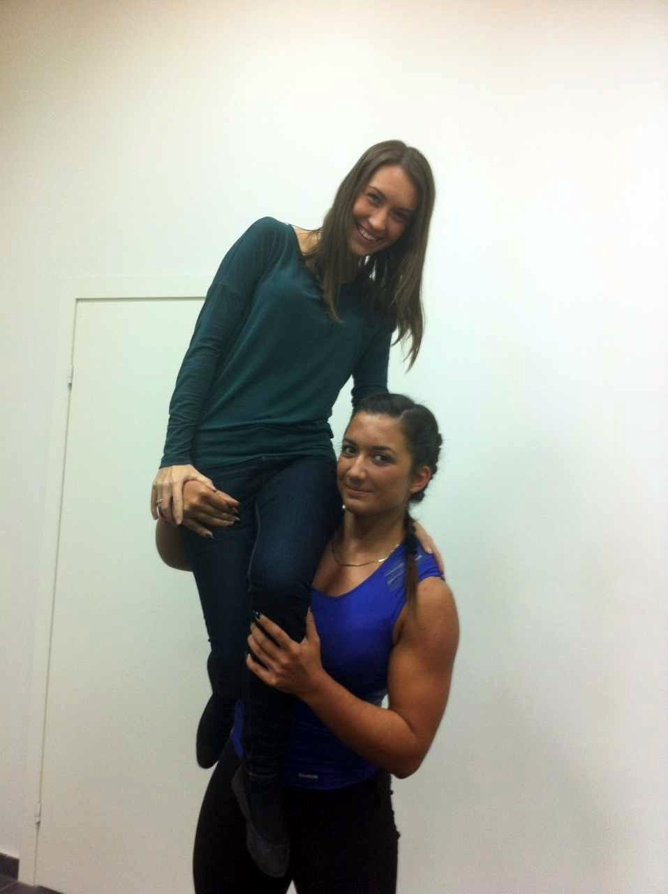 Strong female lift carry